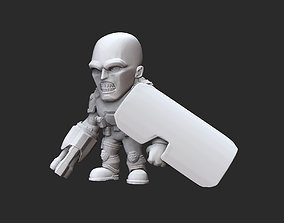 Shield Soldier Doom Collectable Toy 3D Model STL File