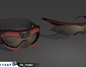 Mlilitary soldier glasses lowpoly goggles 3d VR / AR ready