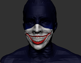 3D printable model joker mask ledger