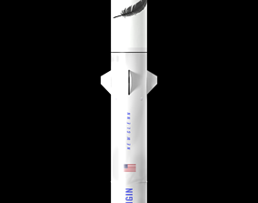 New Glenn rocket 3D model