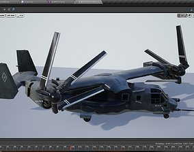 Bell Boeing V22 Osprey Multi-Role Aircraft 3D asset