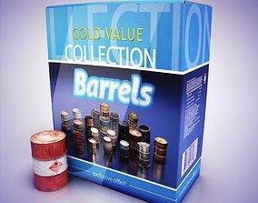 Barrels 3D asset