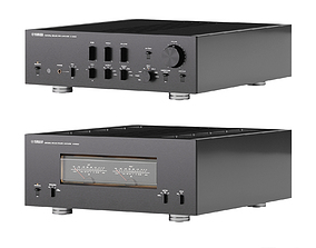 C-5000 and M-5000 by Yamaha 3D model