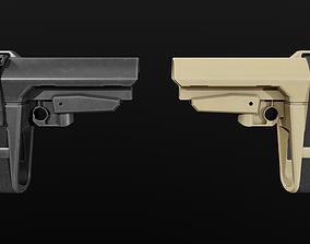 SB Tactical SBA3 AR15 Pistol Stabilizing Brace 3D model