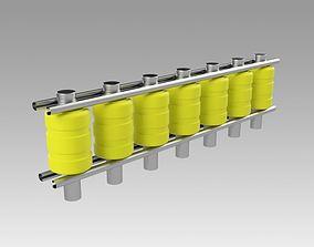 3D model Roller road fence