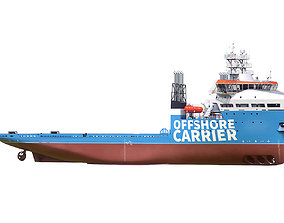 Offshore Carrier Stock hquality 3D model
