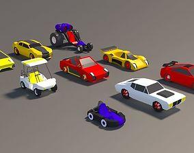 Low Poly Car Pack 01 3D asset