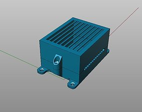3d printable box with side holes for mini breadboard