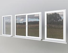 House windows 3D asset game-ready