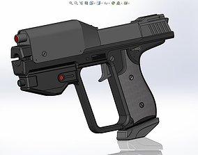 Halo Magnum M6 G Spartan Pistol 3D print model