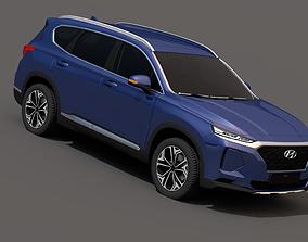 Hyundai Santa Fe 2019 3D asset