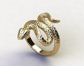 snake 3D printable model Snake Ring