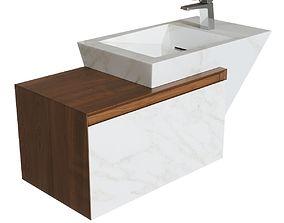 3D model Zen bathroom basin by LAntic Colonial - 1