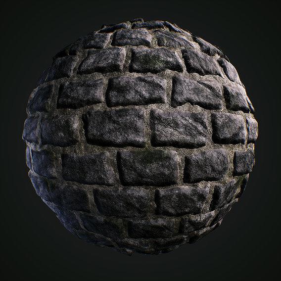 Stone basalt wall texture
