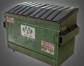 Dumpster 01 - PBR Game Ready 3D asset