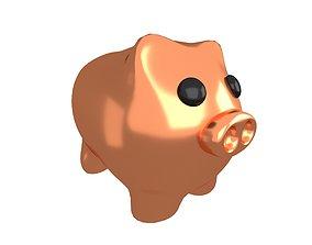 Piggy Bank V1 008 3D asset