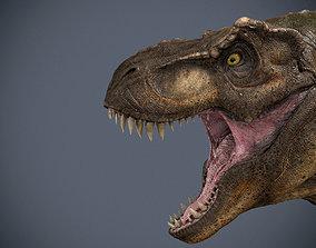 low-poly Tyrannosaurus Rex-model