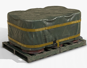 Barrel Shipment Game Prop PBR 3D model