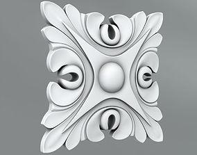 Square decoration rossete 3D model