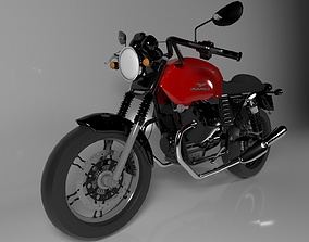 3D Motorbike Guzzi V7 Stone