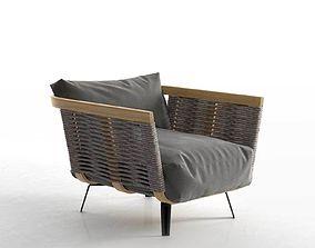 Welcome Cord Armchair 3D model outdoor