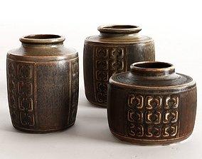 3D Danish Vase Set