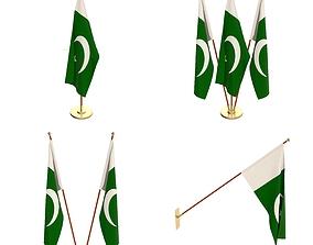 Pakistan Flag Pack 3D