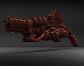 3D print model Stylized Sci-Fi Shotgun