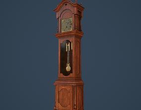 Rigged Grandfather Clock 3D asset