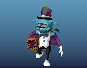 Angry cat 3D asset