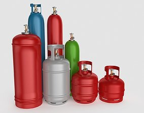 Gas Cylinder Collection 3D model