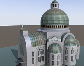 Church low-poly 3d model realtime