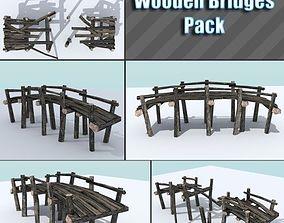 3D asset Wooden Bridges Pack