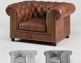 3D model Chesterfield Traditional Tufted Classic Armchair
