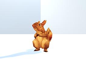 Squirrel 3D model animated VR / AR ready