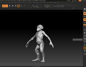 young male monkey 3D