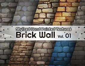 3D model Hand Painted Brick Wall Textures Vol 01