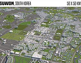 3D Suwon South Korea 50x50km