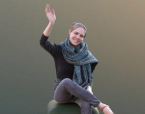 Marie 10402 - Sitting Casual Girl 3D asset