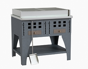 3D model Peva italy grill kitchenware stainless