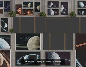 Art Picture Lowpoly 3D Model