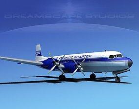 3D Douglas DC-7C Atlantic Charter