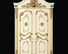 3D model Luxury Classic baroque carved door