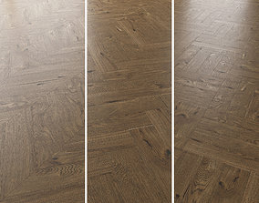 Parquet Oak Estate NEW Brushed set 4 decorative 3D