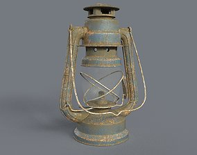 3D Rusted old lantern
