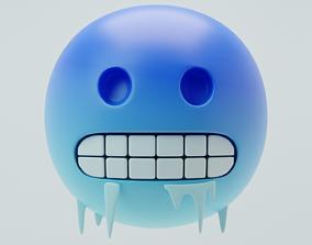 Freezing Emoji 3D model