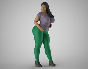 Woman Spring Mood 3 3D print model