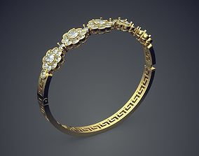 3D printable model Bracelet With Diamonds CAD-6940