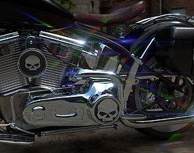 Custom Motorcycle Game Ready 3D model