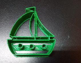 3D print model Sailingboat cookie cutter